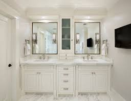 Bathroom Double Vanity Dimensions by Bathroom Vanity With Center Tower Design Ideas