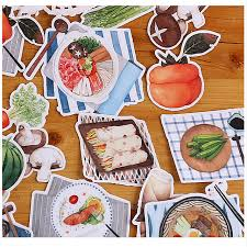 scrapbooking cuisine 24pcs creative self made commoner food drink scrapbooking