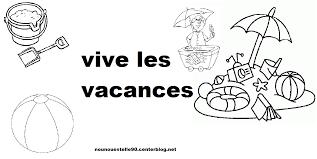 Coloriage Vacances Des Animaux Sur Hugolescargotcom