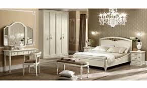 details zu klassisches schlafzimmer massivholz holzfurnier beige italienische stil möbel