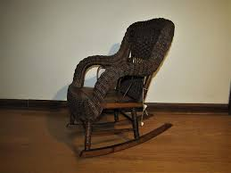 Amazon.com: Antique Heywood-Wakefield Child's Wicker Rocking ...