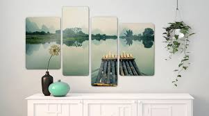 glass prints shop wall