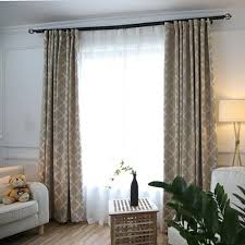 Modern Curtains For Living Room Pictures by Thermal Insulated Cotton Linen Grey Blackout Curtains For Living