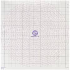 Wilton Decorator Preferred Fondant Uk by Wilton Roll And Cut Mat Fondant Dough Measured Grid Cutting Board