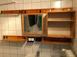 badezimmerschrank spiegel kosmetikschrank holz retro vintage