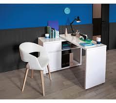 bureau blanc brillant bureau d angle space blanc brillant bureaux but bureaus
