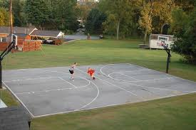 The Measurements Of His Court Is 30' X 50' Full Court With Pro ... Triyae Asphalt Basketball Court In Backyard Various Design 6 Reasons To Install A Synlawn Home Decor Amazing Recreational Lighting Full 4 Poles Fixtures A Custom Half For The True Lakers Snapsports Outdoor Courts Game Millz House Cost Australia Home Decoration Residential Gallery News Good Carolbaldwin Multisport System Photo Diy Stencil Hoops Blog Clipgoo Modern