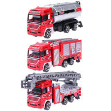 100 Fire Trucks Toys MerHigh Simulation Mini Engine Model Alloy Vehicles Truck Toy For Kid