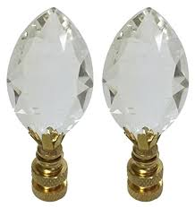 royal designs ccf2010 pb 2 pear shaped clear k9 crystal finial for