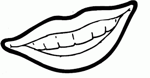Coloring PageLips Pages Lips Black And White Lip Colouring Children Clipart