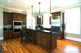 Kitchens With Wood Floors And Cabinets Light Dark Kitchen Living Room Open