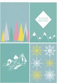 Griswold Christmas Tree Scene by Geometric Winter Scene Christmas Cards Design Pinterest