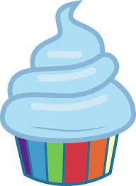Rainbow dash cupcake b