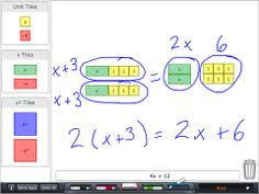 working with algebra tiles perimeter and area algebra math and