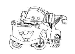 Tow Mater Going Around Town Coloring Pages