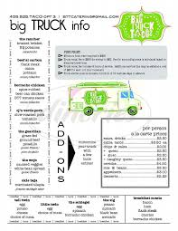 Big Truck Tacos Big Menu - Oklahoma City - Dineries