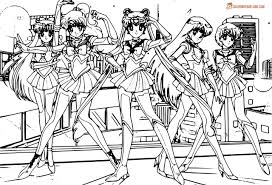 Sailor Soldiers Coloring Page