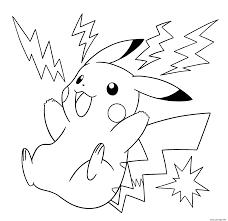 Coloriage Pokemon Pikachu Electrique JeColorie Com Coloriages