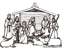 Nativity Coloring Pages Free Printable