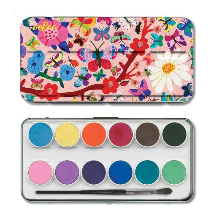 Ee Boo Watercolor Paint Set - Butterflies, 12 Watercolors