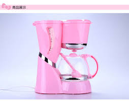High Quality 5 Cups Pink Color Hello Kitty Coffee MachineWith Glass