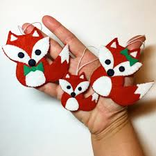 Festive Fox Family Felt Ornament Pattern Craftsy Felt