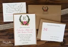 Incredible Full Wedding Invitation Sets Rustic Illustrated Set