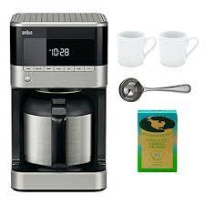 Braun BrewSense KF7155BK Thermal Drip Coffee Maker Bundle By WhoIsCamera