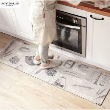 tapis pour cuisine xyzls d accueil moderne tapis de sol de blé imprimé cuisine
