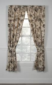 Jacobean Floral Design Curtains by Brissac Jacobean Floral Print Tailored Panels Window Curtains With