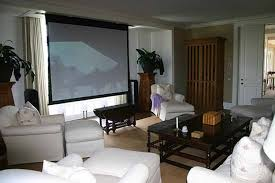 simple design living room theaters portland with white chairs set