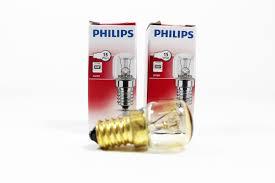 2 x philips 15 watt e14 ses oven l light bulb small cap