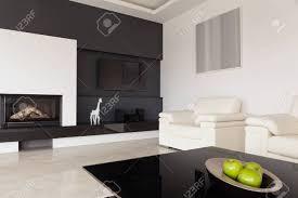 moderne schwarz weiß wohnzimmer design