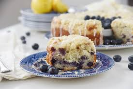 Lemon Blueberry Streusel Coffeecake is light tender and delicious