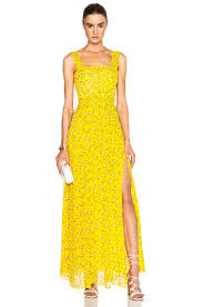 diane von furstenberg lillie chiffon dress in sunlight yellow fwrd