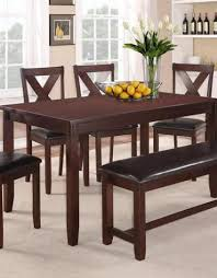 Crownmark Clara Dining Table Set W 4 Chairs Espresso