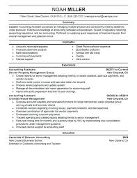 Accounting Assistant Resume Example Templates For Finance Professionals