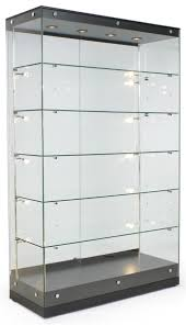 48 Trophy Display Case W Frameless Design Adjustable Shelves Sliding Door