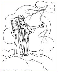 Bible Coloring Pages Ten Commandments