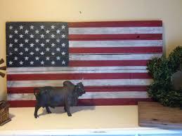 Rustic American Flag Decor Salvaged Wood