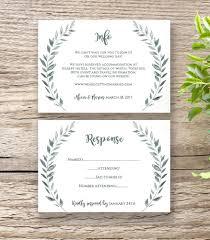 Landscape Wedding Invitation Card Rustic Information And RSVP Cards