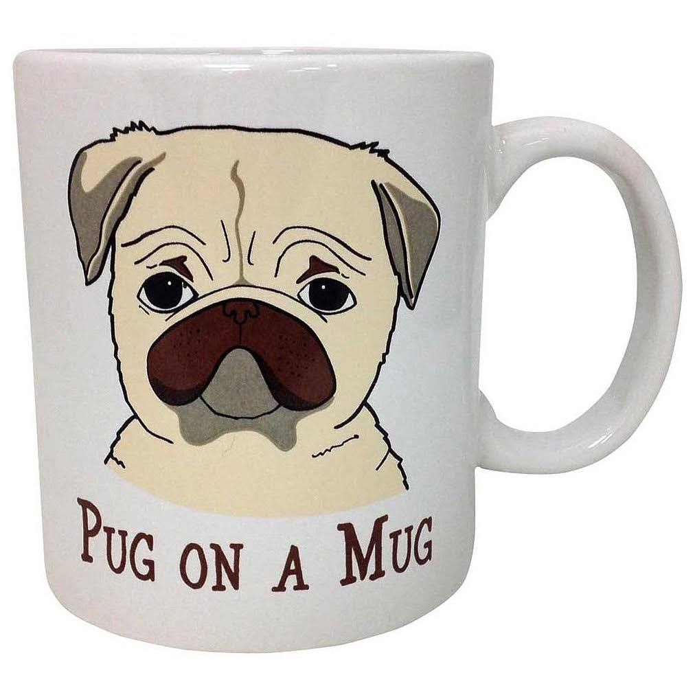 Island Dogs Funny High Quality Coffee Mug - Pug On a Mug, 16oz