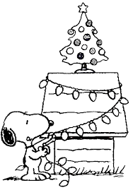 Christmas Coloring Pages Snoopy