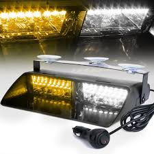100 Strobe Light For Trucks 16 LEDs 18 Flashing Modes 12V Car Truck Emergency Flasher Dash