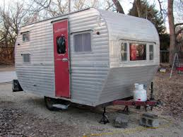 We Have Been Looking For A Small Vintage Camper Some Time Our Eight Children Are Mostly Grown So Sold Made Over School Bus To Another