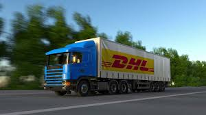 Freight Semi Truck With DHL Express Logo Driving Along Forest Road ... Dhl Truck Editorial Stock Image Image Of Back Nobody 50192604 Scania Becoming Main Supplier To In Europe Group Diecast Alloy Metal Car Big Container Truck 150 Scale Express Service Fast 75399969 Truck Skin For Daf Xf105 130 Euro Simulator 2 Mods Delivery Dusk Photo Bigstock 164 Model Yellow Iveco Cargo Parked Yellow Delivery Shipping Side Angle Frankfurt