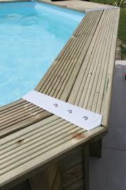 margelle piscine en bois kit piscine bois hors sol rectangulaire luxe 420 x 320 x 130 cm