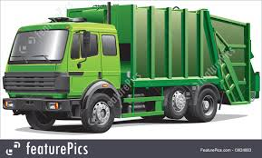 100 Rubbish Truck Illustration Of Green Garbage