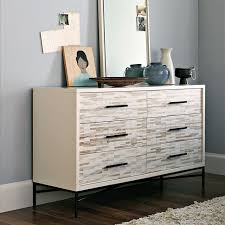 Ikea Malm 6 Drawer Dresser Package Dimensions by Wood Tiled 6 Drawer Dresser West Elm