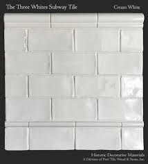 three whites ceramic glazed 3 x 6 subway tile and pencil edge